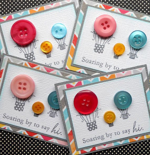Hot Air Balloon Button Embellishments Set of by SewColorfulDesigns, $3.00