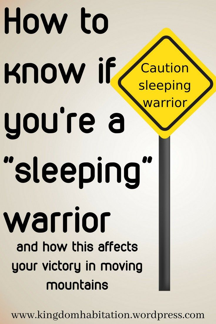 Are You A Sleeping Warrior In Gods Army It Is Very Dangerous