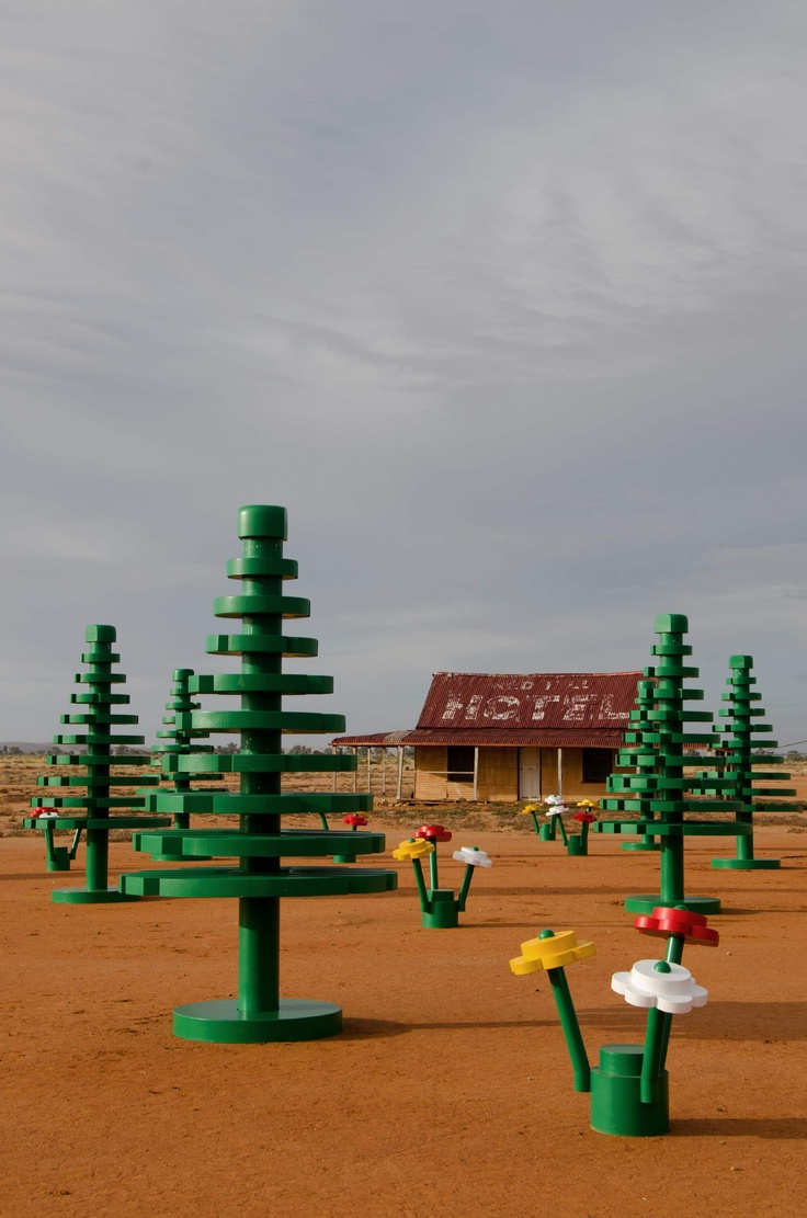 From Urban to Outback: After standing tall in #Sydney's bustling Martin Place in April, the #LEGO ® Forest has hit the road for the first time and headed straight to the red dust plains of the Australian #Outback.: Lego Sets, Broken Hill, News, Life Lego, Lego Forests, Brick, Lego Broken, Life S Lego, Australian Outback