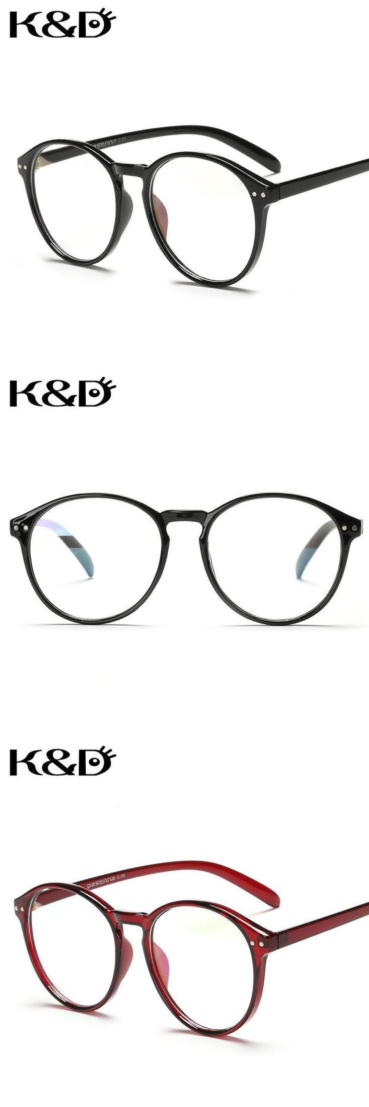 K&D Optical Frame Eyewear Glasses Solid Floral Round Circle Shape Computer Man Woman Unisex Fashion Retro
