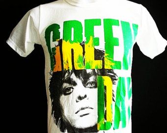 Billie Joe Green Day Rock Music T-Shirt Punk Rock White Short Sleeves
