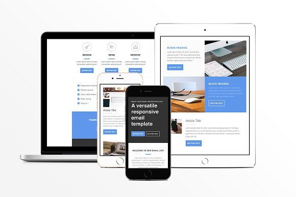 Responsive HTML Email Template by Medialoot on @creativemarket