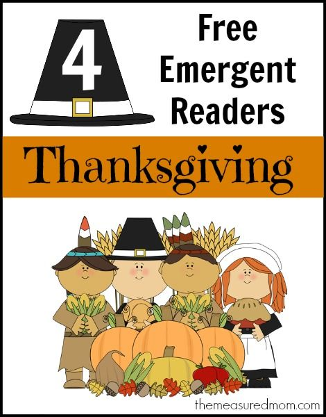 """Thanksgiving Emergent Readers (sight word """"for"""") - The Measured Mom"""