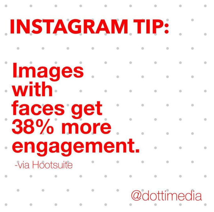 #GetInstaSavvy Tips: Want more ❤ on your Instagram posts? Put your face in it!  Images with faces on Instagram get more engagement than those without. Do you think this is true for you?