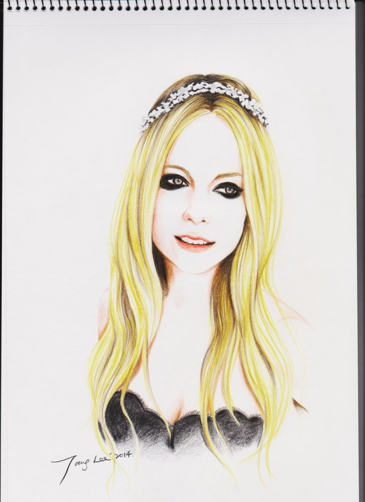Avril lavigne colour pencil