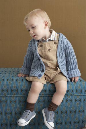 Free Knitting Pattern 90101AD Brioche Stitch Baby Cardigan : Lion Brand Yarn Company