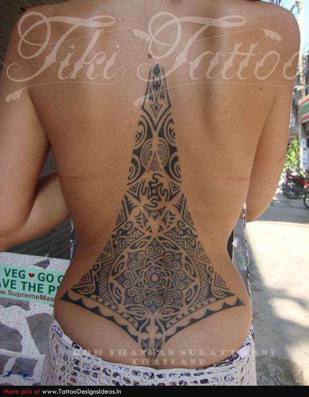 Maori, lower back tattoo on TattooChief.com