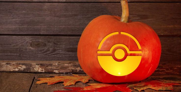 Are you an avid Pokemon Go player? Then this Pokeball pumpkin-carving template is right for you.Pro ... - Maya Kruchankova / Shutterstock.com
