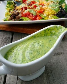Avocado Cilantro Lime Salad Dressing - My three favorite flavors in one yummy, healthy dressing!