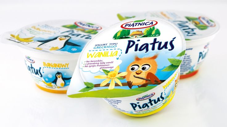 Agency: Rebrand Project Type: Produced, Commercial Work Client: Piątnica Location: Poland Packaging Contents: Yoghurt for kids Packagi...
