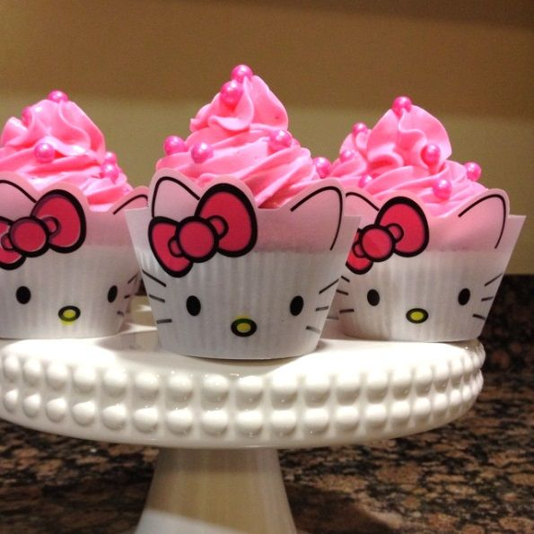 Cupcakes de Hello Kitty.                                                       …