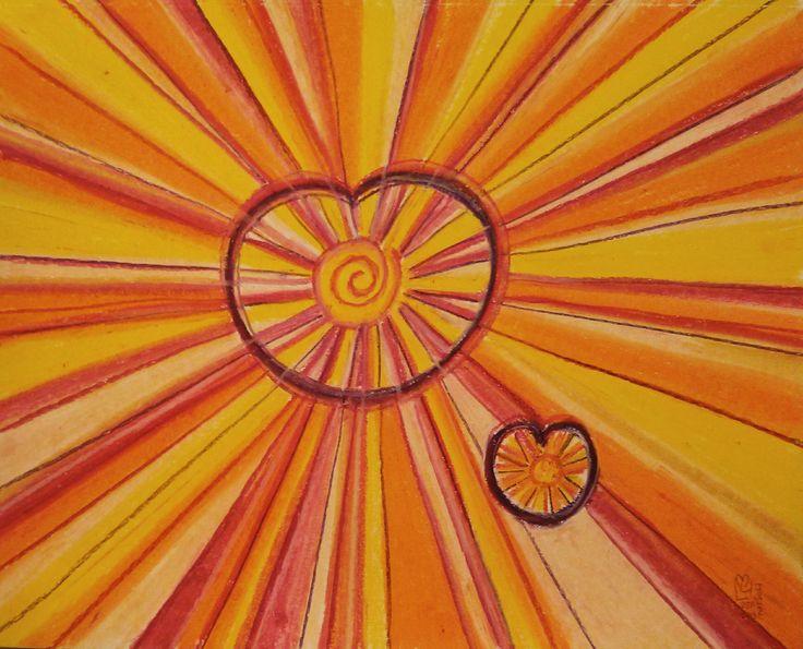 Petit Soleil Deviendra Grand | Little Sun Will Grow 11x14 | 27.9 x 35.5 environ  Papier Canson sans acide  Canson Paper acid free  98Lb | 160g