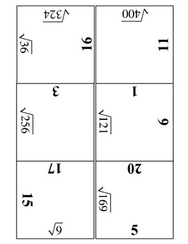 Square Roots Practice Puzzle Kids love this - do it as a type of formative assessment!