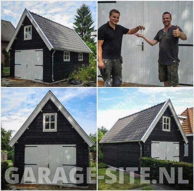 Oplevering van een exclusieve houten schuur / garage