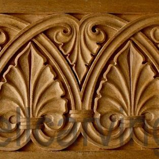 Panels - Romanesque panel - originally in stone - from the 12th Century - hand carved in wood by Agrell Architectural Carving