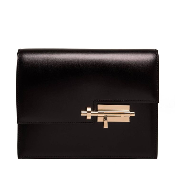 Hermes Black Box Verrou Clutch | From a collection of rare vintage clutches at https://www.1stdibs.com/fashion/handbags-purses-bags/clutches/