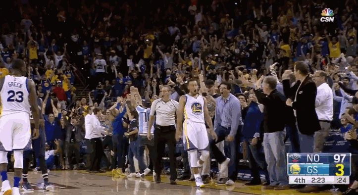 The Dubs' 2016-17 season was packed with big moments — from career-highs, to franchise records, to making NBA history time and time again. With these moments come priceless reactions from players and fans that are simply too good not to share. Record Nights from the Splash Brothers In case you missed it earlier this season, Stephen Curry broke his own record of 3-pointers made in a regular season game, draining 13 shots from beyond the arc as the Dubs went on the beat the Pelicans.