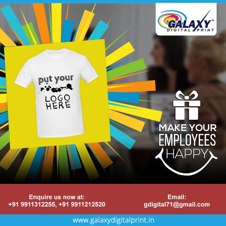 Celebrate this festive season with your company's logo on T-shirts or other products and gift them to your employees. Give them reasons to cheer and advertise your logo. Contact us at gdigital71@gmail.com  #TshirtPrinting #Printing #DigitalPrinting #CustomPrinting