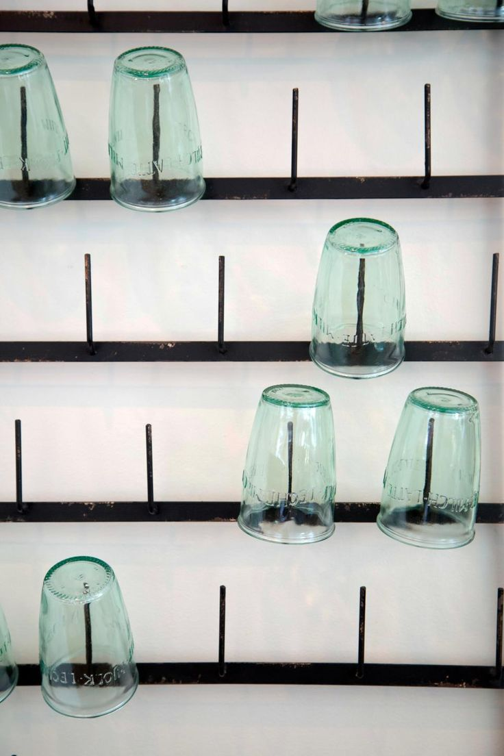 Felton designer 2 shower wall set bunnings warehouse - An Industrial Metal Rack Holding Green Glassware Makes For A Visually Impressive Wall Display