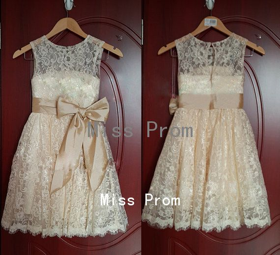 lace flower girl dress wedding flower girl dress by missprom, $39.00
