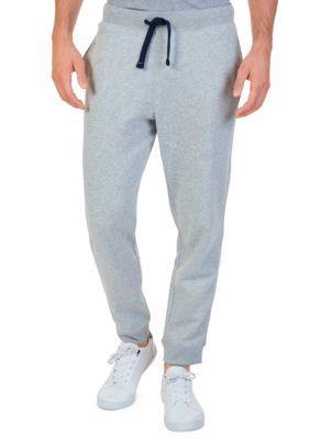 Nautica Men's Knit Pant With Rib Cuff - Grey Heather - 2Xlt