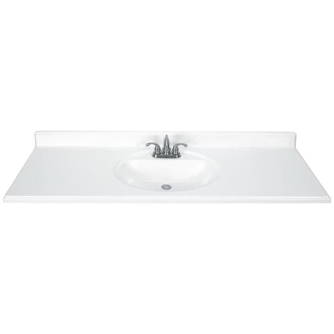 Avanity Vut61wt Versastone 61 Acrylic Vanity Build Com Bathroom Vanity Tops Bathroom Top Vanity Top