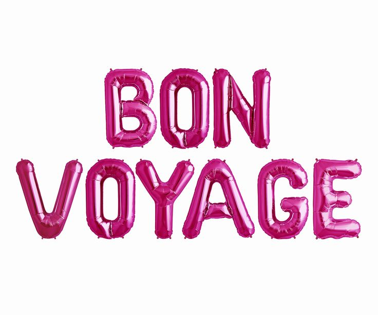 Bon Voyage Balloons Letter Banner | nautical theme party going away bachelorette college dorm job change balloon gold pink rose gold