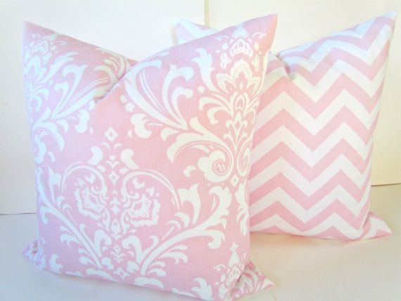 Pink Pillow Set Of 2 20x20 Decorative Throw Pillows Covers Baby Nursery