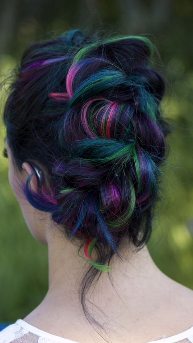 Rainbow hair by Monique  www.vocarehairstudio.com
