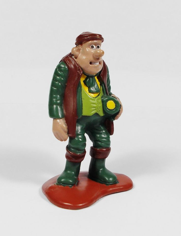Chicken Run - Mr Tweedy Figure - 5 cm Tall - Aardman 1999 Cereal Cake Topper (1)