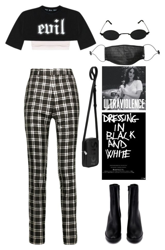 """B&W"" by lalagenue ❤ liked on Polyvore featuring Haider Ackermann, Louis Vuitton, Balenciaga and Mostly Heard Rarely Seen"