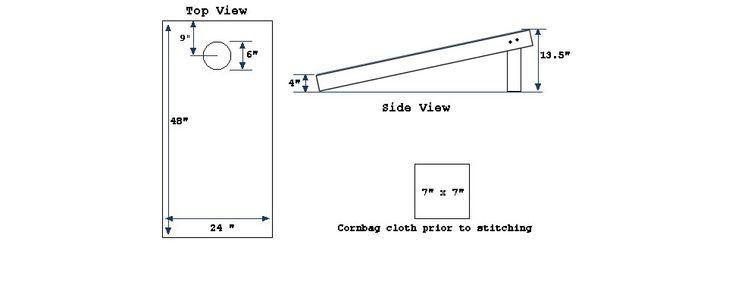best 25  cornhole board plans ideas on pinterest