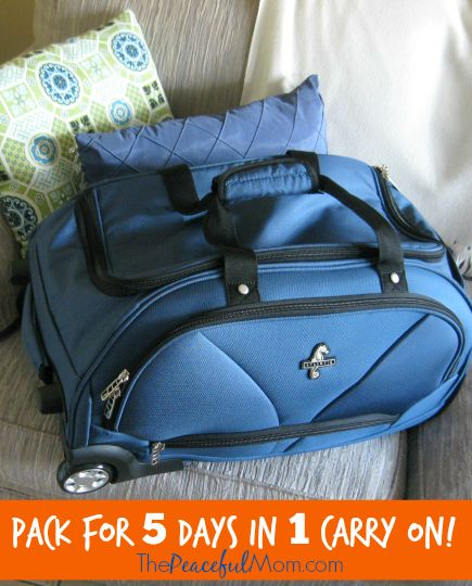 How To Pack for 5 Days in One Carry On Bag - The Peaceful Mom