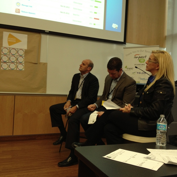 Impact99 social workplace HR summit - CEOs in the Think Tank - http://impact99.ca