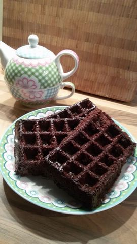 Brownie wafels / Cake / Recepten | Hetkeukentjevansyts.jouwweb.nl