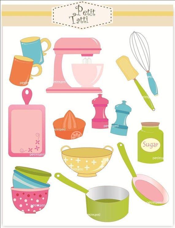 Digital clip art cooking utensil, kitchen equipment, cooking class , INSTANT DOWNLOAD Digital clip art