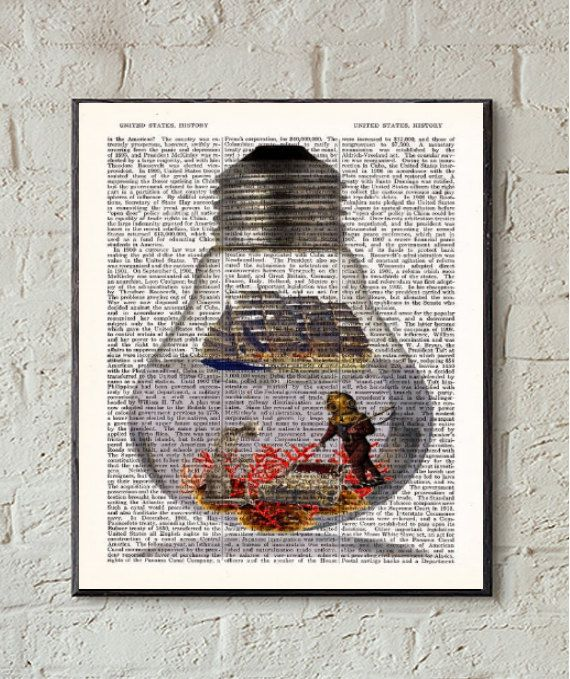 Skeleton Guarding Treasure Dictionary Print BOGO by PosterPrintsBy