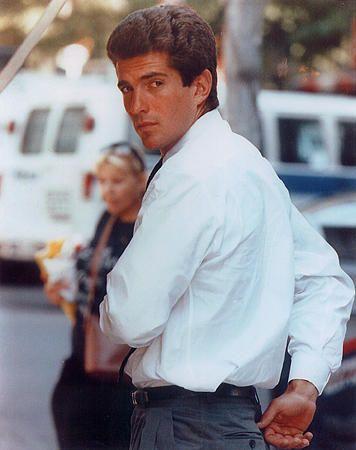 John F. Kennedy Jr. during lunch hour in Manhattan.