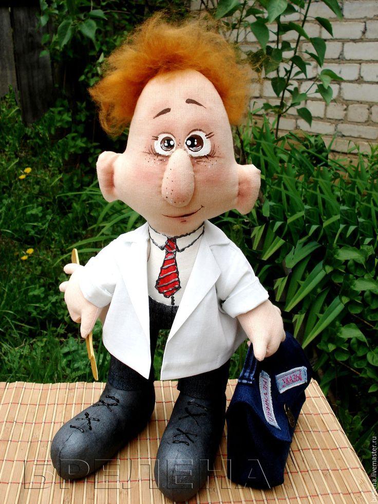 Купить Кукла подарок врачу. Текстильная интерьерная кукла. - интерьерная кукла…