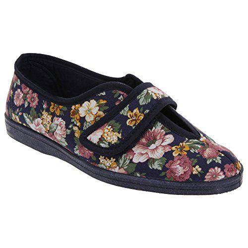 Sleepers Damen Abigail Hausschuhe/Pantoffeln mit Klettverschluss (8 UK/41EU) (Marineblau/Blau) L70MNRJdi
