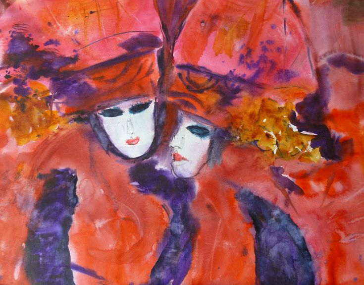 Carnaval de Venise - Deux masques