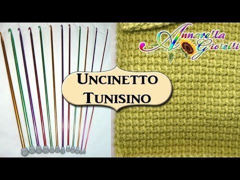 Tutorial Uncinetto Tunisino   1° Metodo base   Tunisian crochet