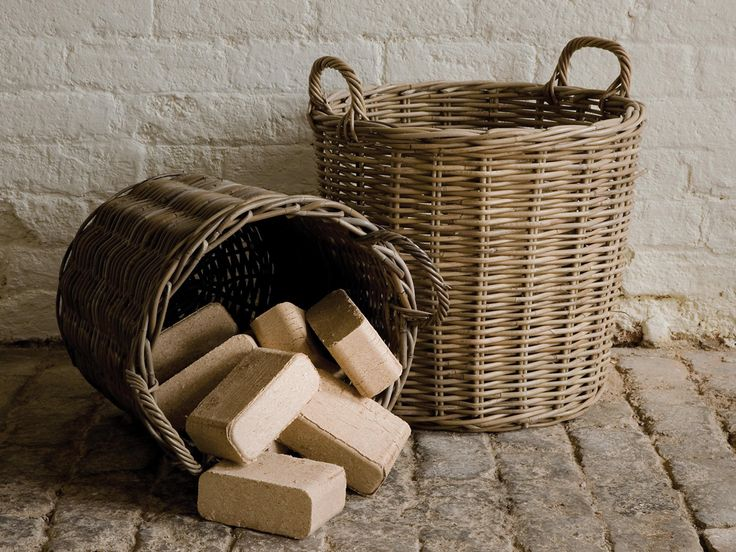 Perfect for for stashing firewood.. Serax Round Rattan Basket