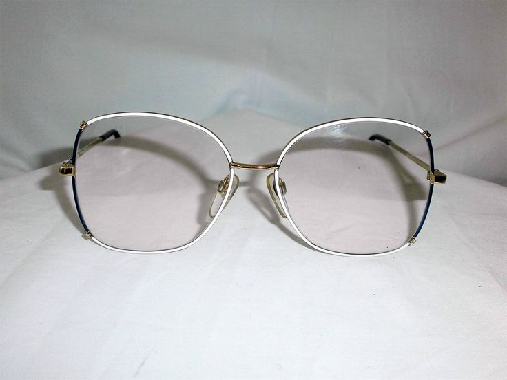 Luxottica Italy, oversized, 22kt gold plated women's eyeglasses frame, super vintage by FineFrameZ on Etsy
