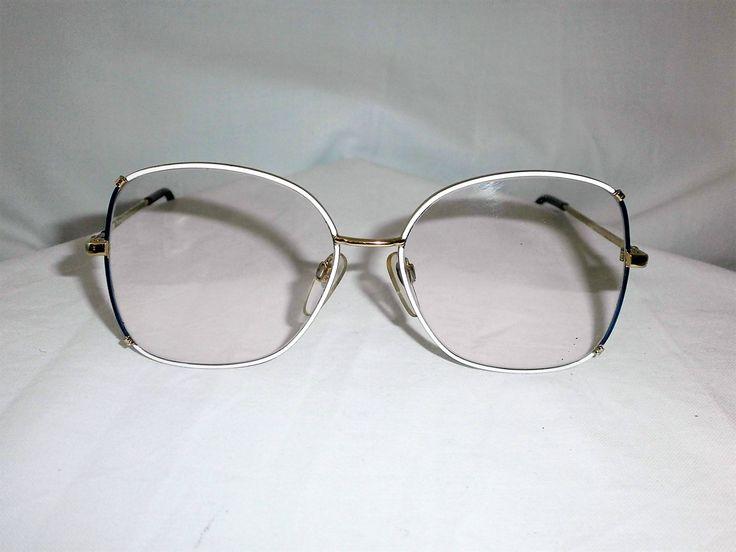 Luxottica Italy, oversized, 22kt gold plated women's eyeglasses frame, super vintage by FineFrameZ on Etsy