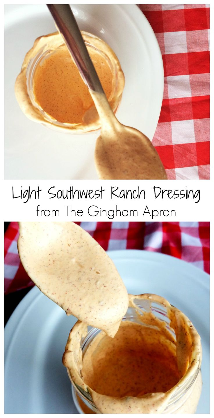 Healthy and Delicious! Light Southwest Ranch Dressing is a great way to start of the new year.
