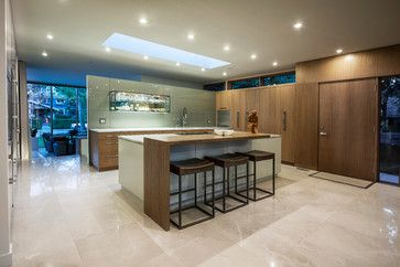 Modern Bungalow - contemporary - Kitchen - Calgary - Rusch Projects