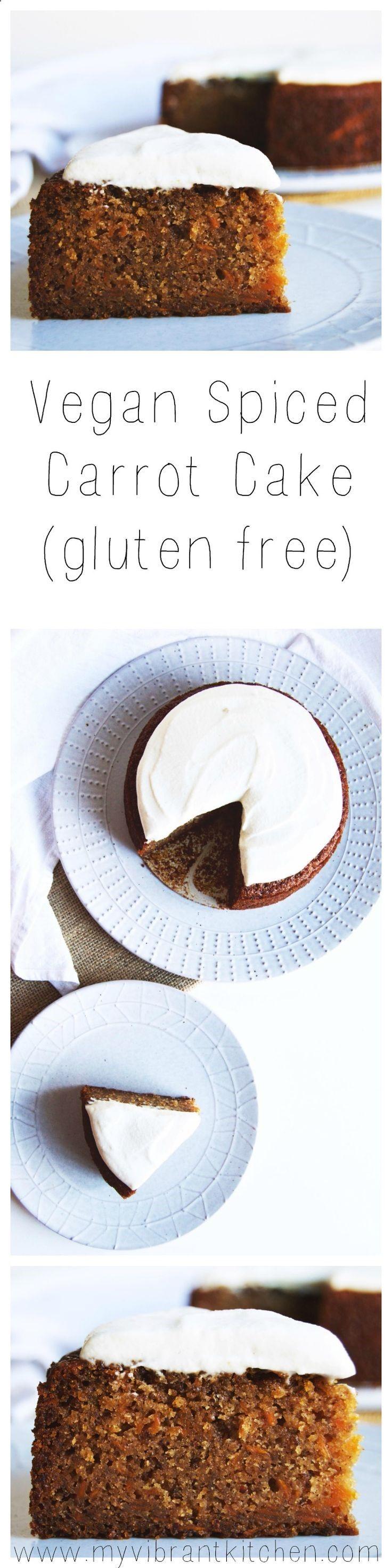 My Vibrant Kitchen | Vegan Spiced Carrot Cake (gluten free) | myvibrantkitchen.com