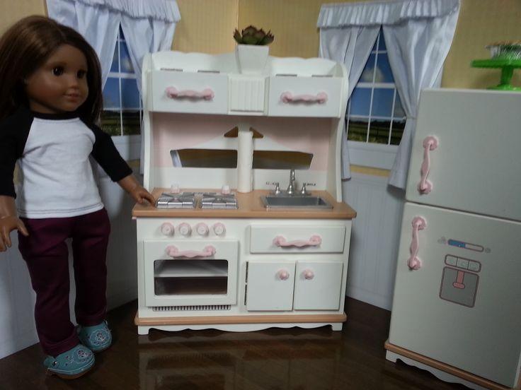 American girl doll set dolls pinterest girl dolls for Doll kitchen set
