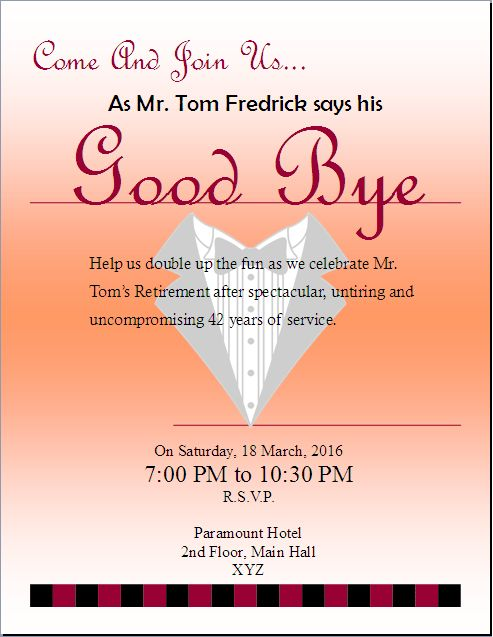 retirement party invitation flyer template  updated